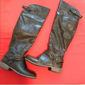 Diba brown equestrian over the knee Riding boots